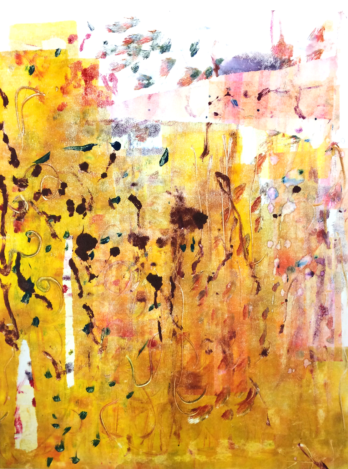 Colour Monoprint 2017 'Golden'